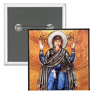 The Virgin Mary Oran Pinback Button