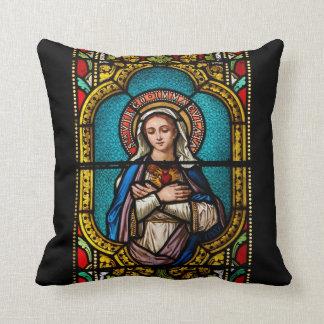 The Virgin Mary Throw Pillows