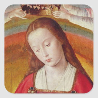 The Virgin Mary with her Crown Square Sticker