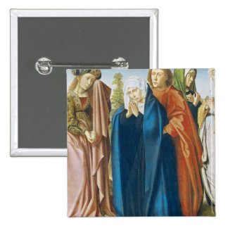 The Virgin Mary with St. John the Evangelist 2 Inch Square Button