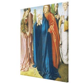 The Virgin Mary with St. John the Evangelist Canvas Print
