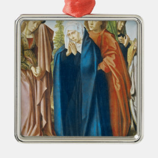 The Virgin Mary with St. John the Evangelist Metal Ornament