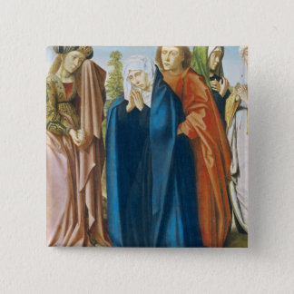 The Virgin Mary with St. John the Evangelist Pinback Button