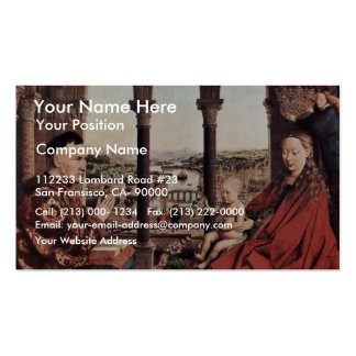 The Virgin Of Chancellor Rolin. By Jan Van Eyck  ( Double-Sided Standard Business Cards (Pack Of 100)