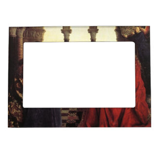 The Virgin of Chancellor Rolin by Jan van Eyck Magnetic Photo Frame