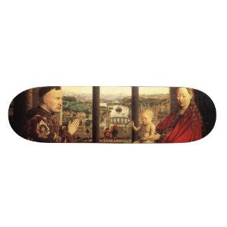 The Virgin of Chancellor Rolin by Jan van Eyck Skateboard Deck