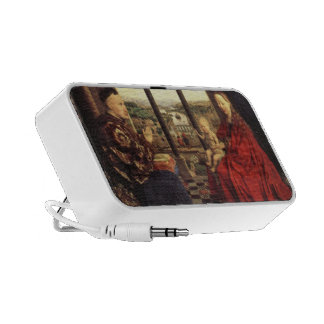 The Virgin of Chancellor Rolin by Jan van Eyck iPhone Speaker