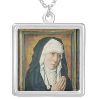 The Virgin of Sorrow 2 Silver Plated Necklace