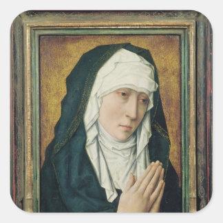 The Virgin of Sorrow 2 Square Sticker