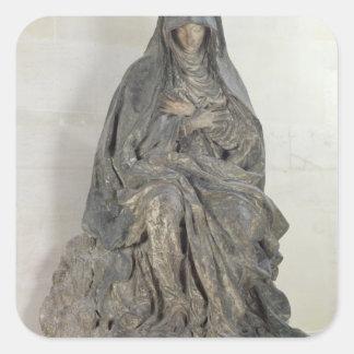 The Virgin of Sorrow Square Sticker