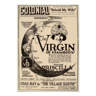 The Virgin of Stamboul Vintage Poster