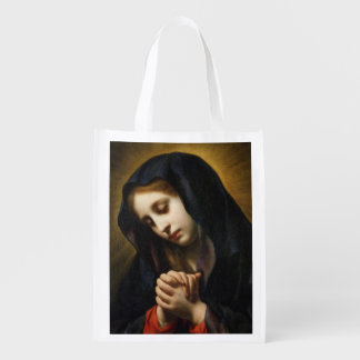 The Virgin of the Annunciation, c.1653-55 Grocery Bags