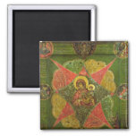 The Virgin of the Burning Bush, from Mount Athos 2 Inch Square Magnet