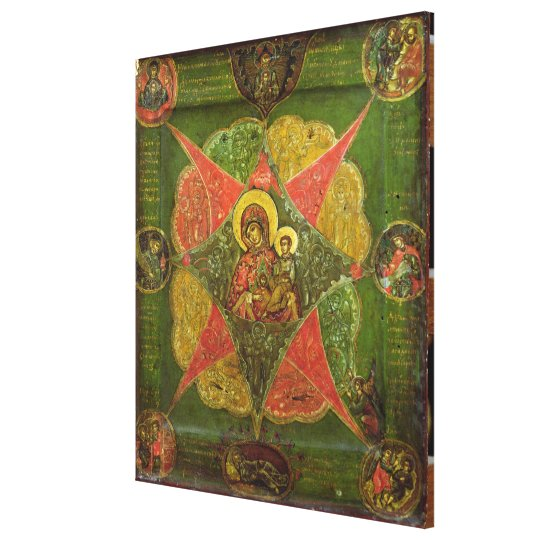 The Virgin of the Burning Bush, from Mount Athos Canvas Print
