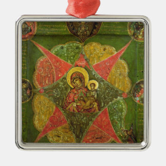 The Virgin of the Burning Bush, from Mount Athos Metal Ornament