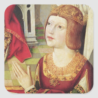 The Virgin of the Catholic Kings 2 Square Stickers