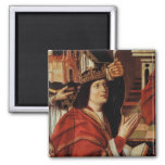 The Virgin of the Catholic Kings 2 Inch Square Magnet