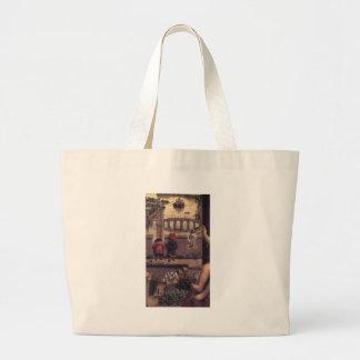 The Virgin of the Chancellor Rolin by Jan van Eyck Jumbo Tote Bag