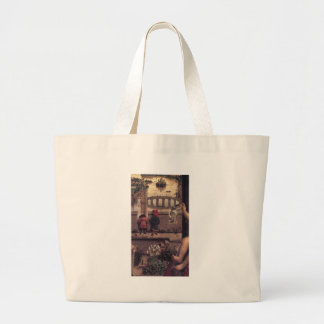 The Virgin of the Chancellor Rolin by Jan van Eyck Large Tote Bag