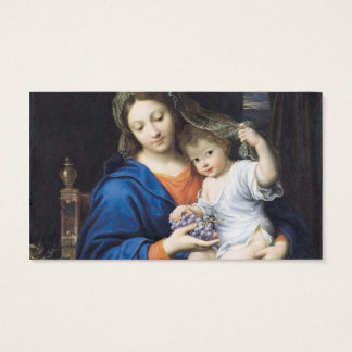 The Virgin of the Grapes, 1640-50 Business Card