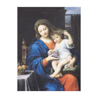 The Virgin of the Grapes, 1640-50 Stretched Canvas Prints