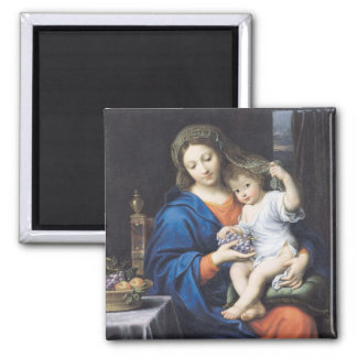 The Virgin of the Grapes 1640-50 Magnet