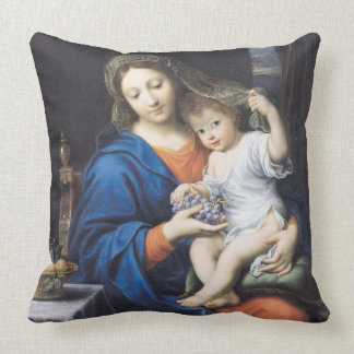 The Virgin of the Grapes, 1640-50 Throw Pillow