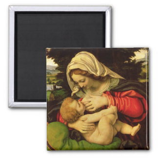 The Virgin of the Green Cushion 1507-10 Magnets
