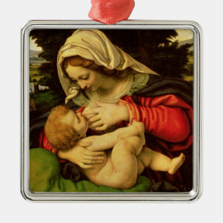 The Virgin of the Green Cushion 1507-10 Christmas Ornaments