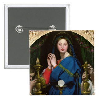 The Virgin of the Host, 1854 Pinback Button
