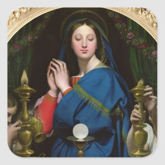 The Virgin of the Host, 1854 Square Sticker