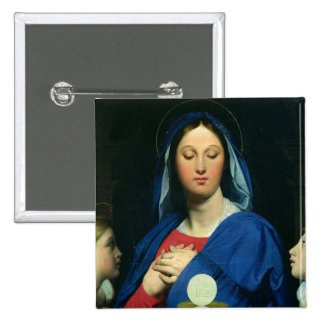The Virgin of the Host, 1866 Pinback Buttons