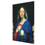 The Virgin of the Host, 1866 Canvas Print