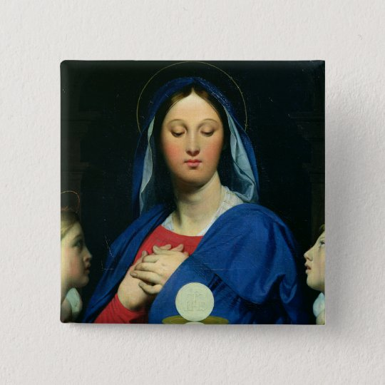 The Virgin of the Host, 1866 Pinback Button