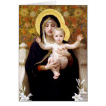 The Virgin of the Lillies Greeting Cards