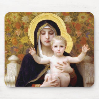 The Virgin of the Lillies Mouse Pads