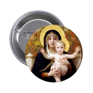 The Virgin of the Lillies Pinback Button