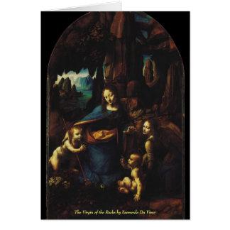 The Virgin of the Rocks by Leonardo da Vinci Stationery Note Card