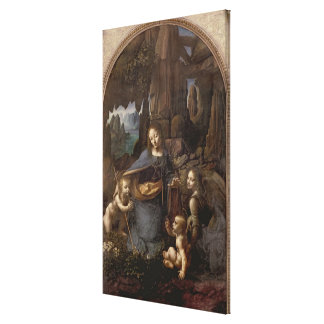 The Virgin of the Rocks , c.1508 Canvas Print