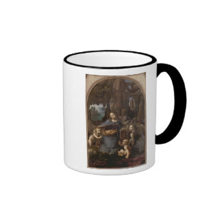 The Virgin of the Rocks , c.1508 Ringer Coffee Mug