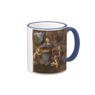 The Virgin of the Rocks Ringer Coffee Mug