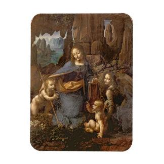 The Virgin of the Rocks Rectangular Magnets