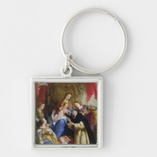 The Virgin Offering the Rosary Keychain