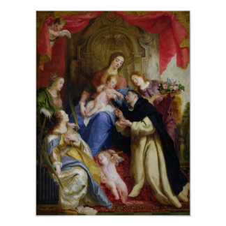 The Virgin Offering the Rosary Posters
