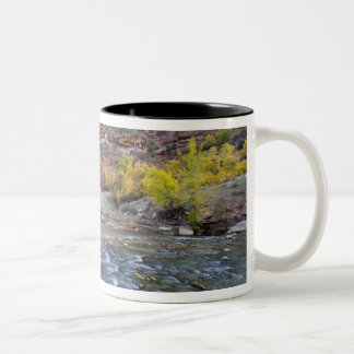 The Virgin River in autumn in Zion National Park Two-Tone Coffee Mug