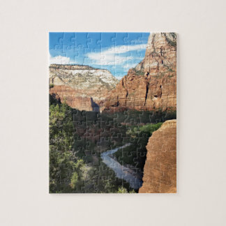 The Virgin River in Zion Canyon Jigsaw Puzzle