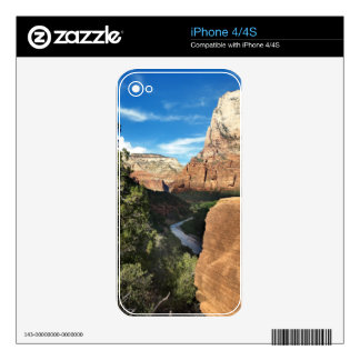 The Virgin River in Zion Canyon Skin For The iPhone 4
