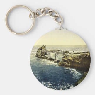 The Virgin s Rock Biarritz Pyrenees France clas Key Chains