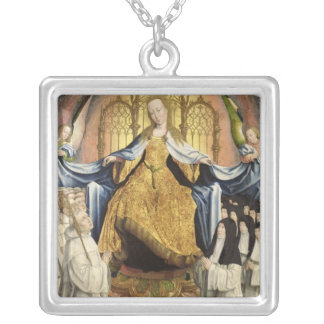 The Virgin Sheltering the Order of Citeaux Silver Plated Necklace
