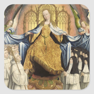 The Virgin Sheltering the Order of Citeaux Square Sticker